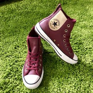 NWOB Converse Chelsea Leather Boot Fur Hi Top 8
